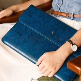 杰森克斯 macbook AIR内胆包 air真皮电脑包 11寸13寸