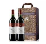 巨诺双支装红酒皮盒带酒具红酒盒皮盒包装红酒箱酒盒