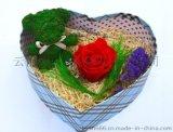 高端创意礼品永生花保鲜花情人节礼物 玫瑰花小熊礼物 心中的海洋