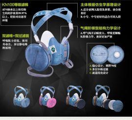 寶順安M3402+2201 氨氣氨衍生物 KN100 防粉塵防毒防塵面具