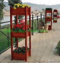 物价户外花箱组合防腐木花槽正方形特大种植树箱木制花盆批发