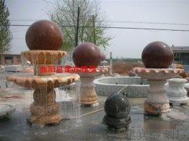 石雕风水球厂家 招财风水球喷泉雕刻