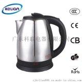 廠家OEM不鏽鋼電熱水壺 科聯KL-181 1.5L通用不鏽鋼電水壺批發