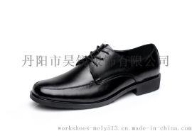 真皮 酒店工作鞋 男式行政工作鞋 繫帶款男士皮鞋  93618