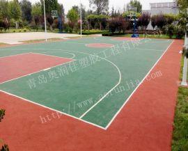 聚氨酯塑胶篮球场-篮球场地面建设