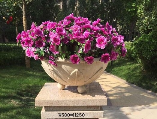 人造砂岩園林花盆雕塑 廣西砂岩浮雕花鉢 庭院別墅水景花盆