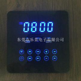新款触摸屏家具音响带USB充电温度时间显示低音单独调节