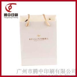 厂家定制**白卡烫金创意简约设计手提包装纸袋