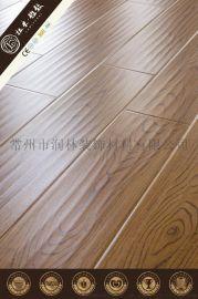 12毫米手抓波浪木地板強化乙烯基地板木供應廠家