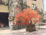 鸿晟东莞仿真红枫树 玻璃钢枫树 人造假枫树 石头异形树造型树