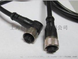 接插件M12接插件M12孔型弯头带线3.4.5孔母头连接器插头航空连接器