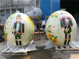手工制作精致卡通造型彩绘不倒翁彩蛋瓷娃娃玻璃钢雕塑
