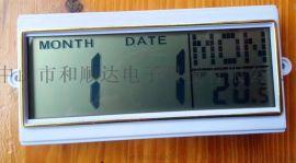 英语LCD电子钟机芯 挂钟日历条 LCD屏11CM长的电子日历模块 LCD屏模组