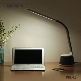REMAX LED台灯蓝牙音箱学习工作护眼灯时尚美观多功能用途黑白色