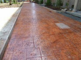 西双版纳彩色仿石仿木压花地坪 艺术压纹混凝土