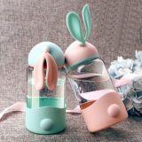 玻璃兔子杯 兔耳朵密封水杯防漏