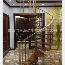 不鏽鋼鍍鈦金 旋轉樓梯  廠家定制生產