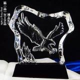 老鷹水晶獎牌,企業合作贈禮,年終員工表彰水晶獎牌