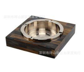 不锈钢玻璃烟灰缸,金属不锈钢玻璃烟灰缸,现代简约不锈钢玻璃烟灰缸