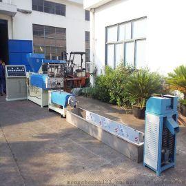 盟申135型废旧塑料回收造粒机 聚乙烯塑料造粒机