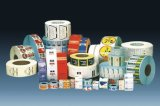 卷筒彩色保健品瓶标签/透明不干胶标签/合格证标签