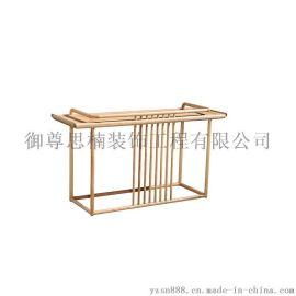 成都实木家具 新中式禅意玄关 厂家批发定做