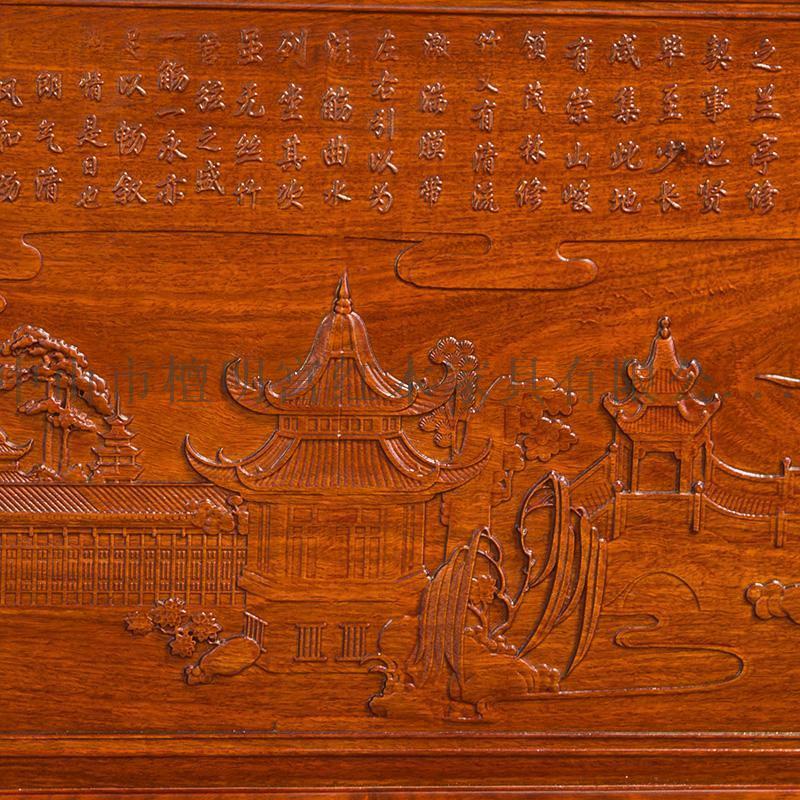 檀明宫红木家具紫檀花梨木大床**1.8米实木婚床中式储物床包邮