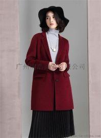 雙面羊絨大衣一線品牌女裝折扣店到廣州明浩