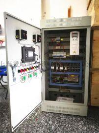 ABB恒压供水变频柜一拖二人机界面5.5KW触摸屏控制电气柜