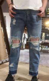 飞度牛仔裤 品牌女装折扣货源