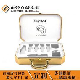 立葳化妆瓶皮盒化妆品皮盒定制精美包装盒制作