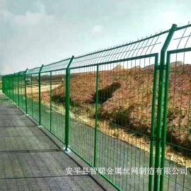 公路护栏网厂家@绿色公路隔离栅网@绿色铁丝网围栏