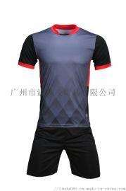 运动套装夏季男速干短袖圆领跑步服休闲宽松足球训练服装1606外贸订单款