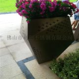 不鏽鋼花盆加工定製 酒店裝飾花盆花器