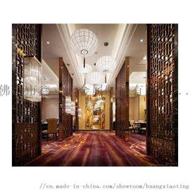 镜面玫瑰金黑钛金不锈钢屏风隔断室内装饰不锈钢背景墙