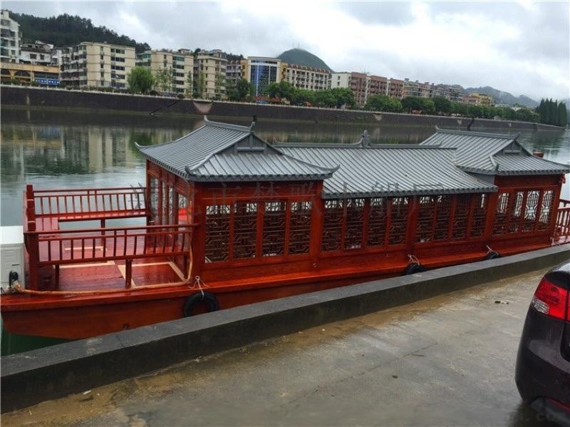 山西內蒙古河北哪余有14米仿古畫舫船  景區觀光船