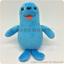 毛绒玩具企鹅 海狮蓝色两款 企业吉祥物礼品 玩具加工 玩具设计生产 毛绒玩具定制 玩具厂家