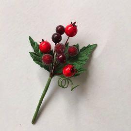 圣诞浆果枝,仿真莓果,圣诞果枝,圣诞松果