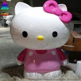 玻璃钢HelloKitty猫现货   广州厂家玻璃钢卡通雕塑