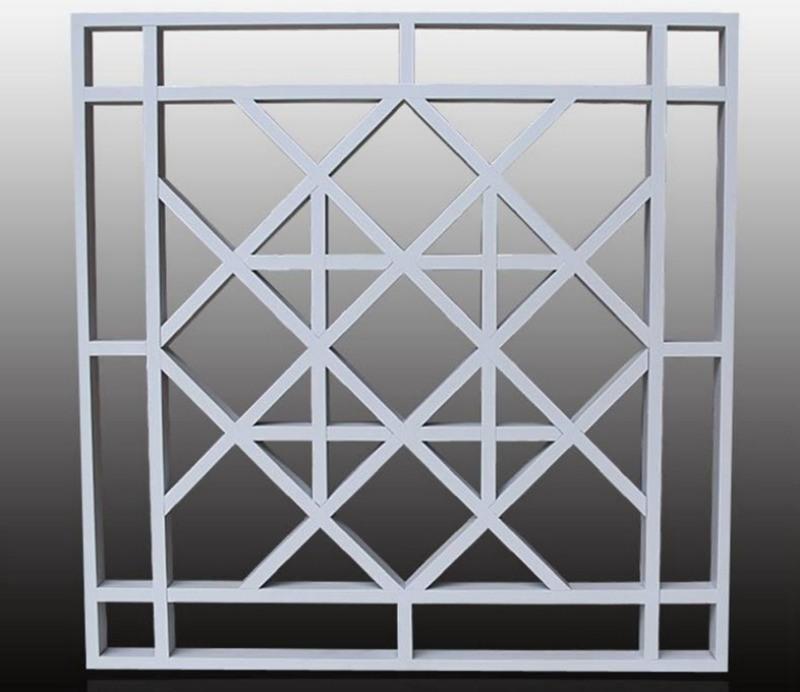 铝窗花厂家直销屏风装饰木纹铝窗花规格定制