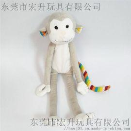 定制动物毛绒玩具猴子公仔可来图打样加LOGO