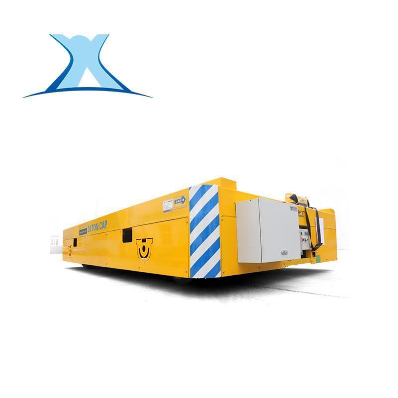 50吨无轨电动平车搬运不锈钢管无轨胶轮车