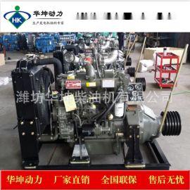 潍坊4110固定动力柴油机102马力带大离合器皮带轮出口