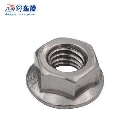 304不锈钢六角法兰螺母 工业紧固件六角法兰螺母 多种规格
