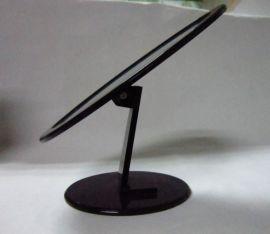 黑色亚克力/有机玻璃椭圆镜子(可上下摆动) (JZ-005)