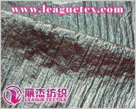起皱尼丝纺烫膜面料