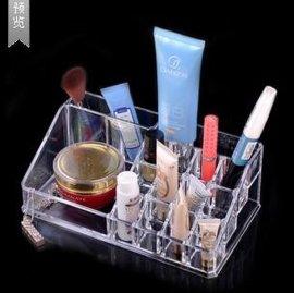 爆款家居化妆盒 收纳盒 首饰盒水晶化妆品盒  格子化妆盒