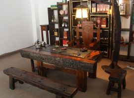 老船木茶台 中山船木家具