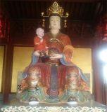 供应十二老母 无生老母 无极老母镀金彩绘树脂玻璃钢神像2.3米