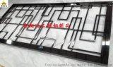 定制不锈钢隔断屏风 镂空异形花金属壁画 激光切割加工